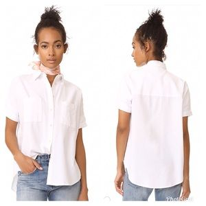 Madewell White Cotton Courier Shirt S